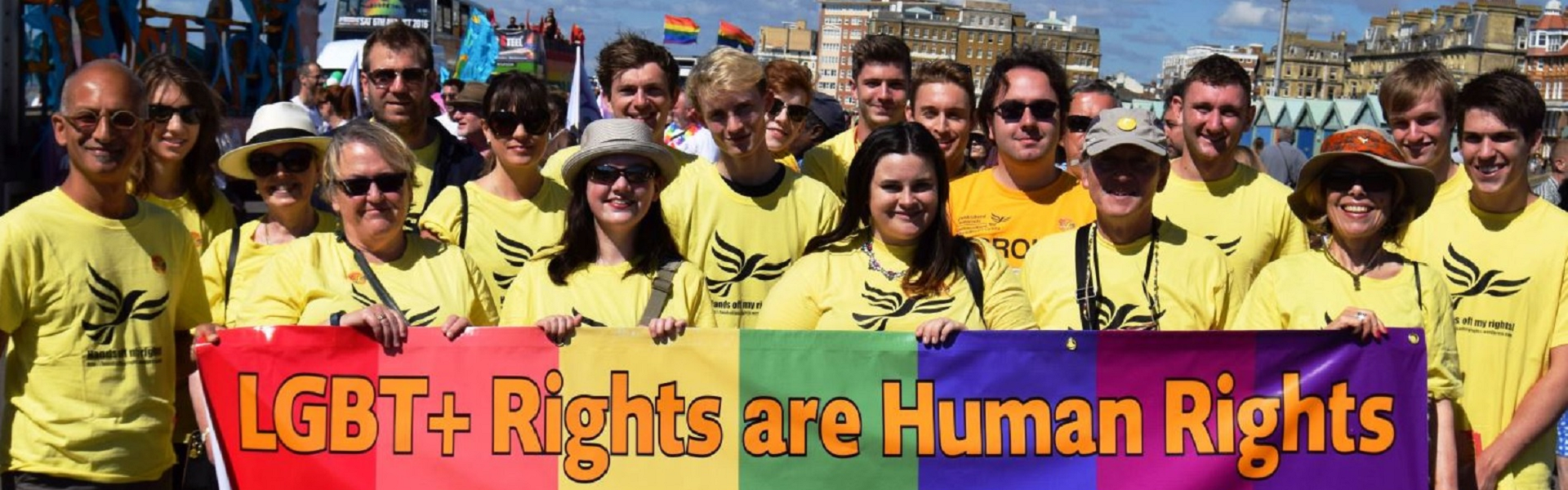 Brighton and Hove Lib Dems at Brighton Pride