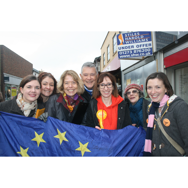 Lib Dem Article 50 Petition Team in George Street, Hove.