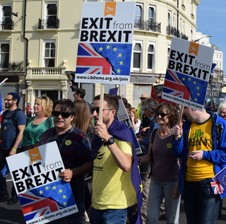 B&H Lib Dems at StopBrexit march (Duncan Moore)