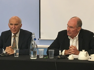 Vince Cable and Will Hutton at LD conference 2017
