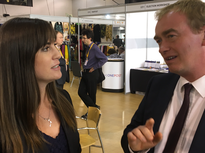 Beatrice Bass with Tim Farron