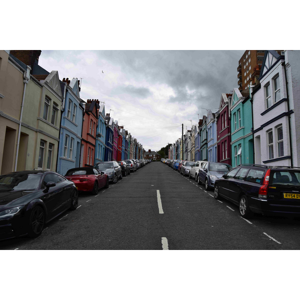 Colourful houses in Kemptown, Brighton.