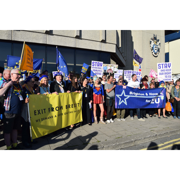 Pro-EU Demonstration - Lib Dem Conference 2018