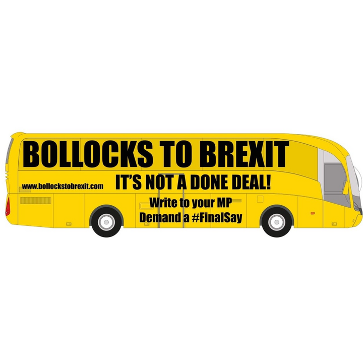 Bollocks to Brexit Bus side