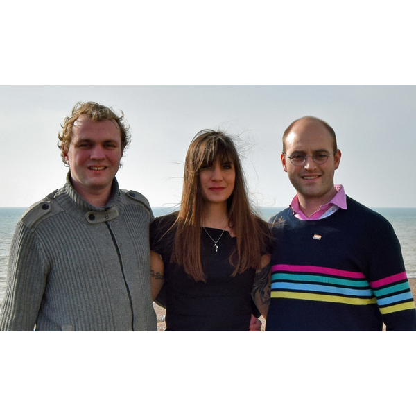 Picture of teh Brunswick and Adelaide candidates, Duncan Moore and Christian Chadwick with the Hove PPC, Beatrice Bass, 20190221