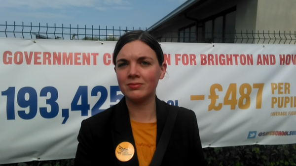 GE2017 Hove candidate Carrie Hynds supporting the Save Our Schools campaign