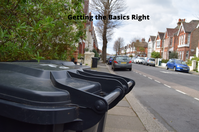 Recycling Bins In Hove - Manifesto Text Imposed