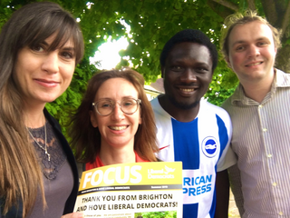 Hove canvassing with Pepe (Beatrice Bass)