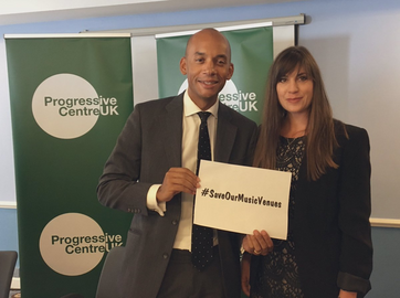 Chuka Umunna MP and Beatrice Bass at autumn conf 2019