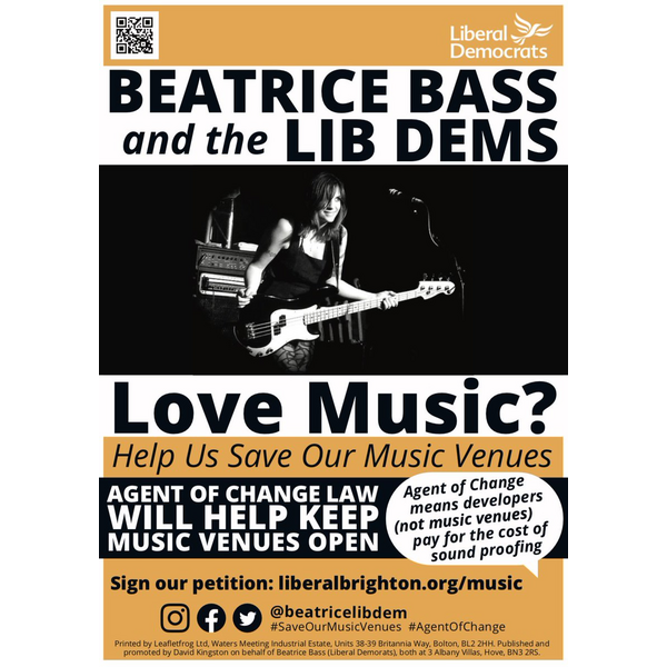 Save Our Music Venues poster