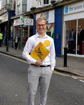 Lib Dem spokesperson for Brighton Kemptown, Ben Thomas ()